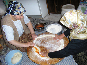 Muhacir mantı - a refugee recipe from Mustafapasa